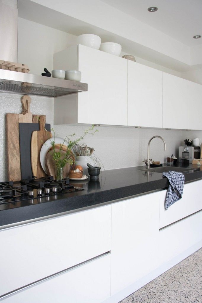 Blauwe Keuken Accessoires : Grey and White Kitchen