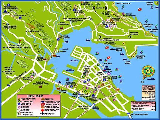 Olongapo Map Olongapo City Philippines In 2019 Pinterest