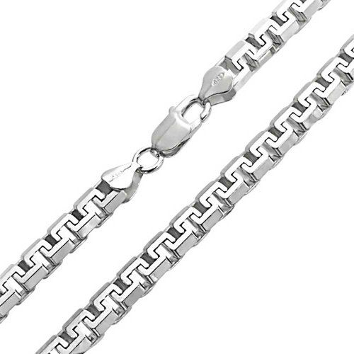 Bling Jewelry Mens 925 Sterling Silver Square Link Unisex Chain Necklace 20in…