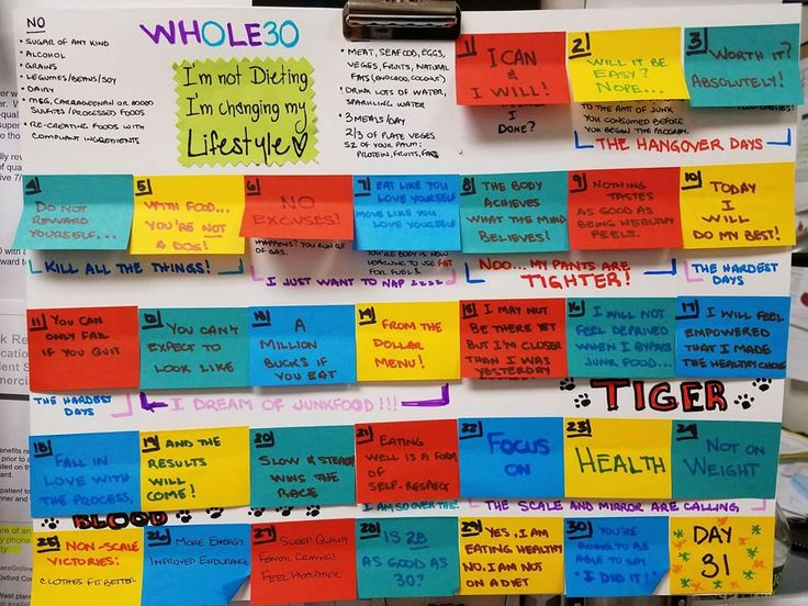Whole 30 timeline calendar: What to expect, tips and motivation.
