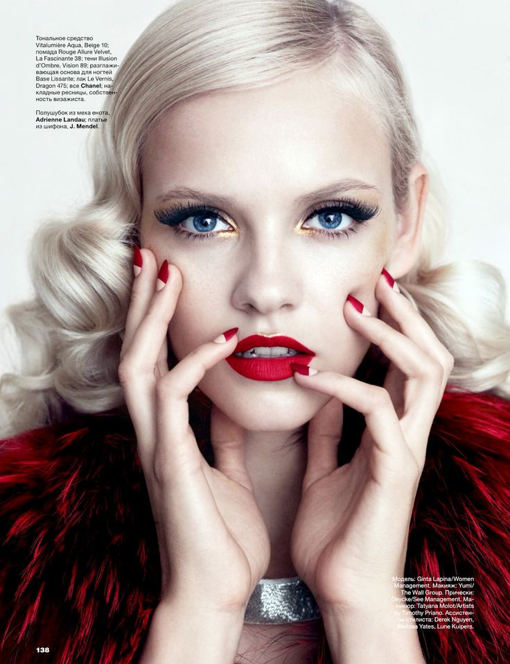 ginta lapina by norman jean roy for allure russia