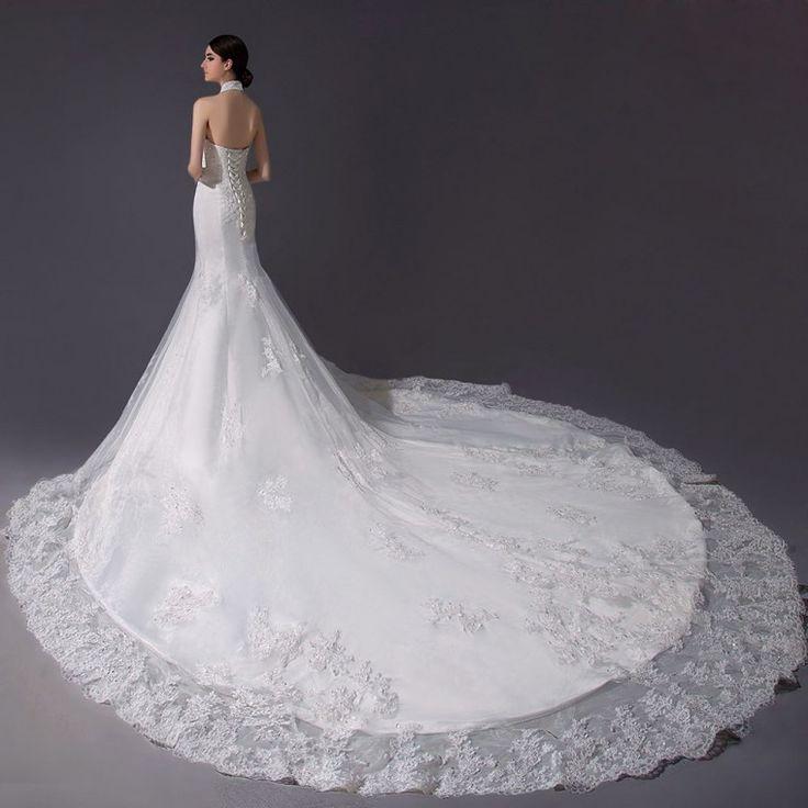 ウェディングドレス マーメイド ホルダー チャペルトレーン ボディーラインを美しく表す 挙式 ブライダル 結婚式 B14TB0054 価格 ¥82,944