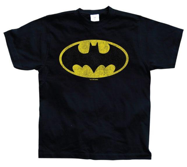 Batman Distressed Logo Koszulka Męska