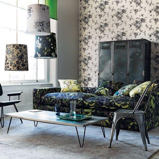 Mixed florals living room | Living room idea | housetohome.co.uk