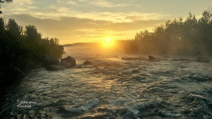Abisko misty river by Juha Jousi