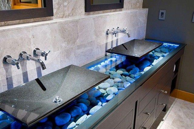 Zillow's Hot Bathroom of March 2013: Washing up before dinner? Skip the river and make your way to these modern basins.