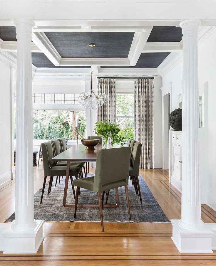 Casual Dining Room Buffet Decorating Ideas: 23 Stunning Coffered Ceiling Ideas In 2020