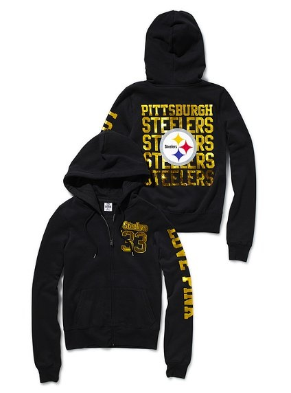 Pittsburgh Steelers Bling Zip Hoodie