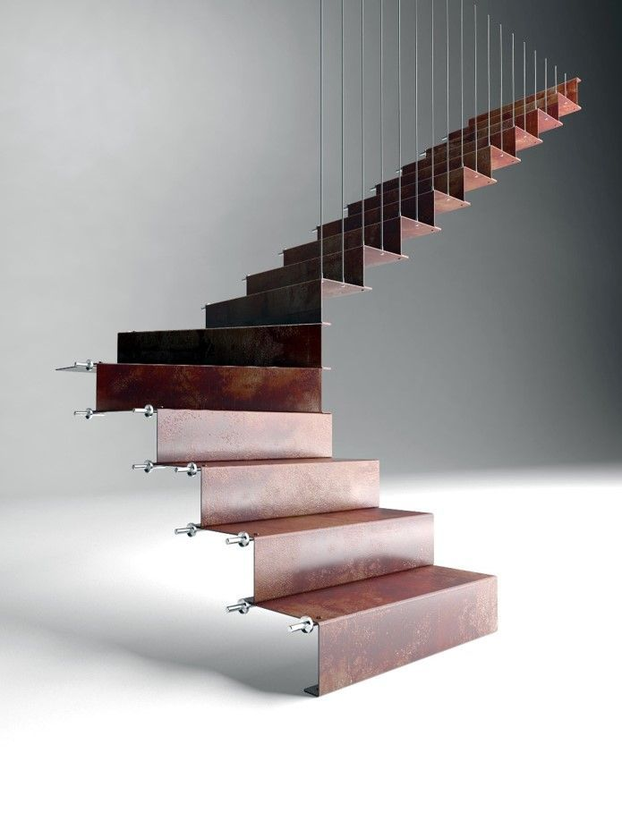 M s de 25 ideas incre bles sobre escaleras metalicas en for Escalera exterior de 6 escalones