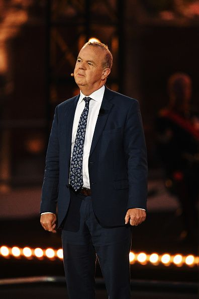 Ian Hislop helps narrate as the story of the war in the Ypres region is told by performances and music set to a backdrop of visual projections on the facade of the Cloth Hall during commemorations marking the centenary of Passchendale. 100th Anniversary Of The Battle Of Passchendaele Is Commemorated In Ypres