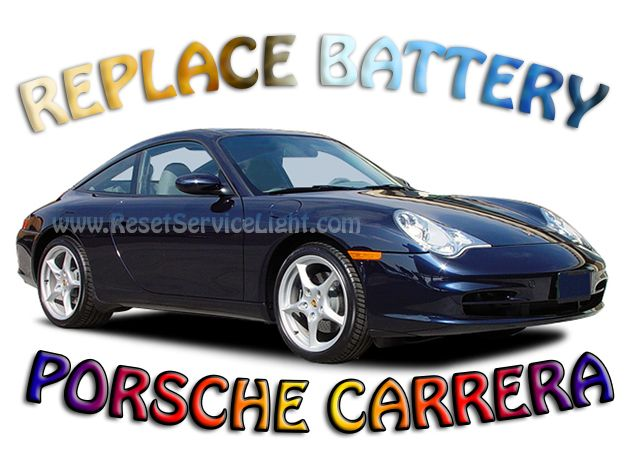 Change battery Porsche Carrera