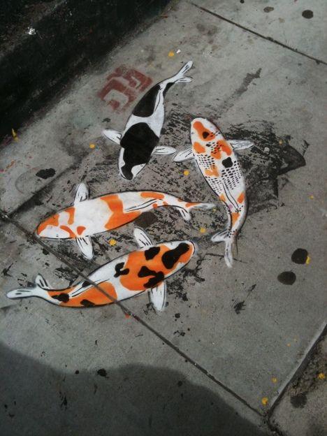 Graffiti Koi Pond.
