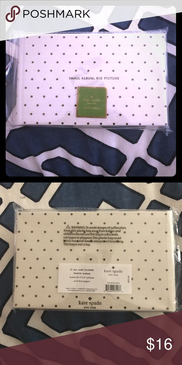 "Kate Spade photo album ""Small Album, Big Picture"".  Adorable Kate Spade photo album that holds 80 4x6 photos.  Perfect for a girls' weekend or a gift! kate spade Accessories"