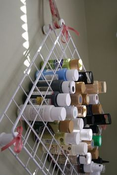 CRAFTCLOSET: paint in those metal wire shelving units
