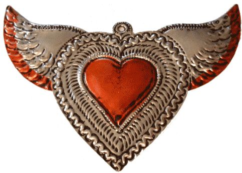 'mexican tin heart milagros' - Yahoo Image Search Results