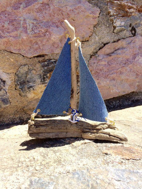 Sailboat Driftwood boat yacht Nursery decor by hippiefishbeachart