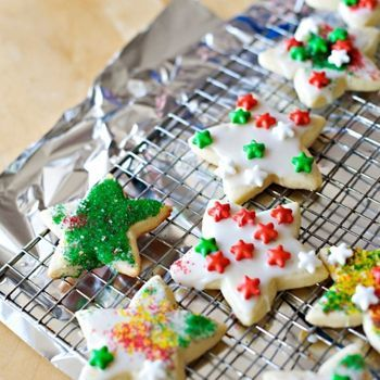 This is the BEST sugar cookie recipe to make cut-out cookies with...tons of cookies to decorate with the kids. They hold their shape and taste