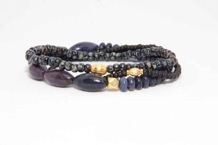 A. Rametta Designs 18K Gold Beaded Bracelets