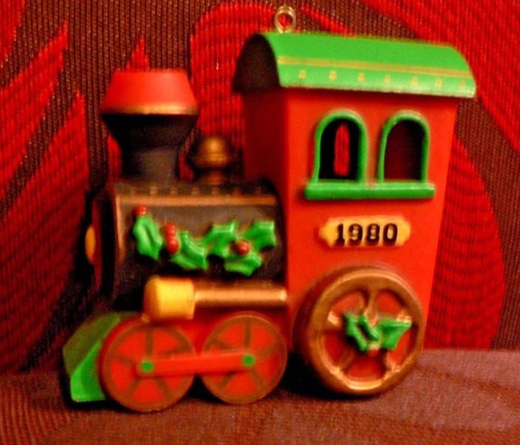 The Holiday House Collection Dated Ornament Train 1980