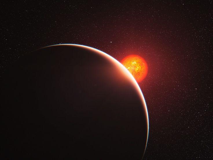 Illustration d'une super-Terre autour d'une naine rouge