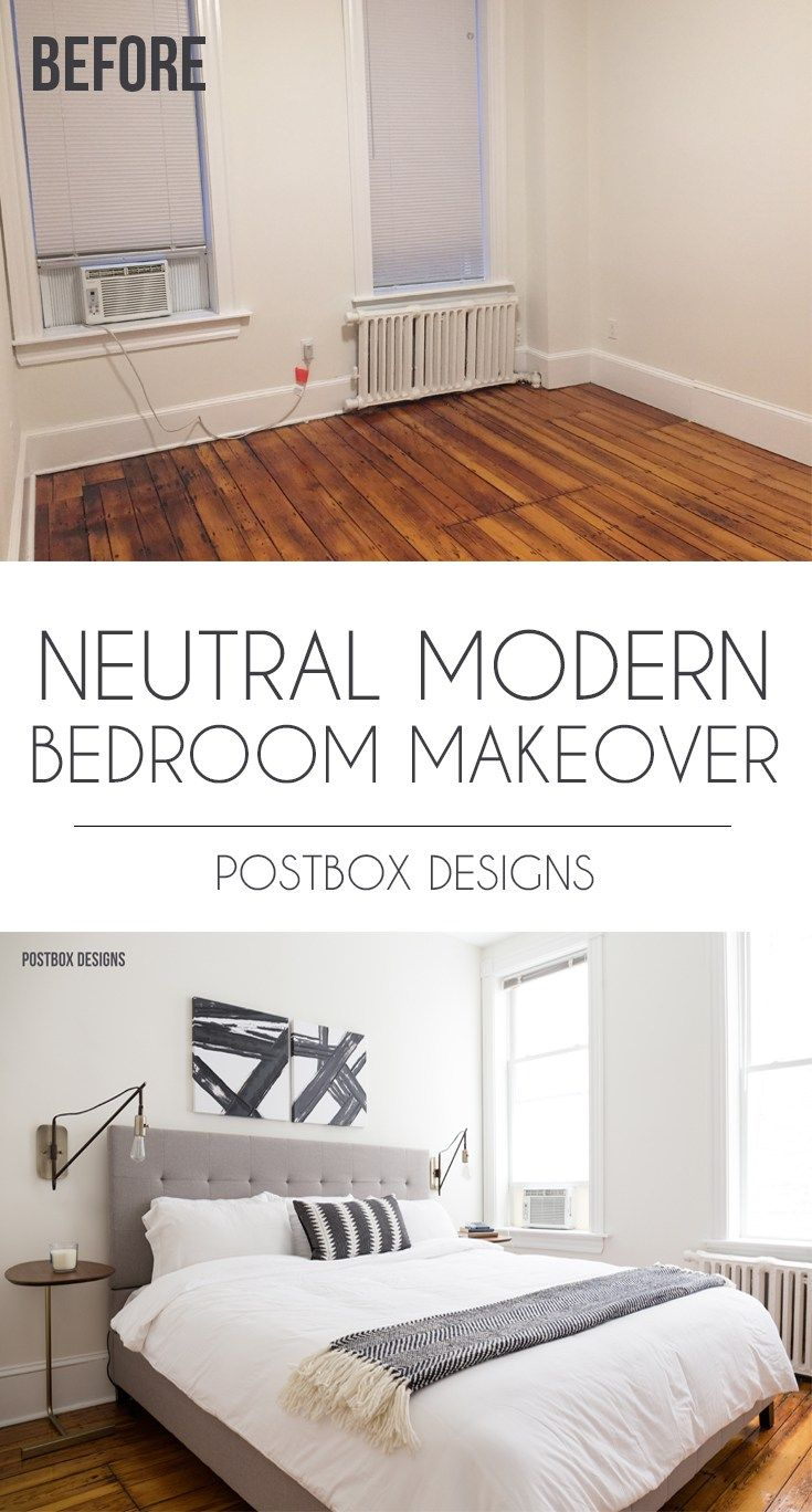 Postbox Designs E Design Neutral Modern Boho Bedroom Makeover Decor Small