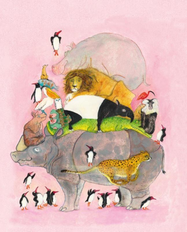 #Kerntitels Kinderboekenweek 2015 : Groep 3 & 4: Springende pinguïns en lachende hyena's