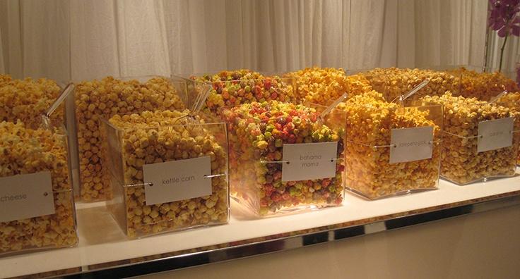 Great idea for bar/bat mitzvahs...flavoured popcorn station