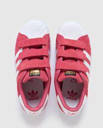 Zapatillas deportivas de infantil de Adidas rosas con velcro