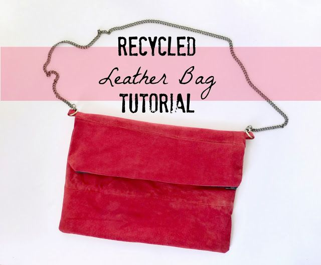 Leather purse Upcycled from thrifted skirt + tutorial from Domestic Bliss Squared