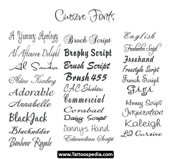 Best 25 Tattoo Lettering Generator Ideas On Pinterest: 25+ Best Ideas About Cursive Fonts For Tattoos On
