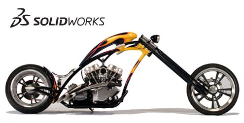 Motorcycle designed in SolidWorks