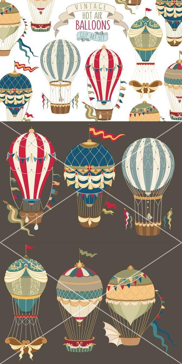 Vintage Hot Air Balloon Collection