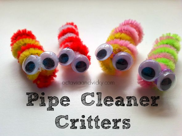 Pipe Cleaner Critters {via Octavia and Vicky}
