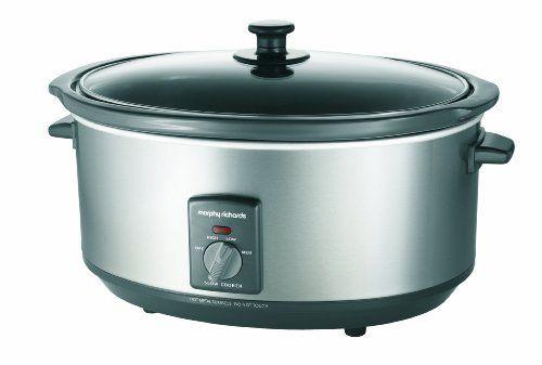 Electrodomestico - Morphy Richards Slow Cooker – Olla eléctrica - http://tienda.casuarios.com/morphy-richards-slow-cooker-olla-electrica-65-l-acero-inoxidable/