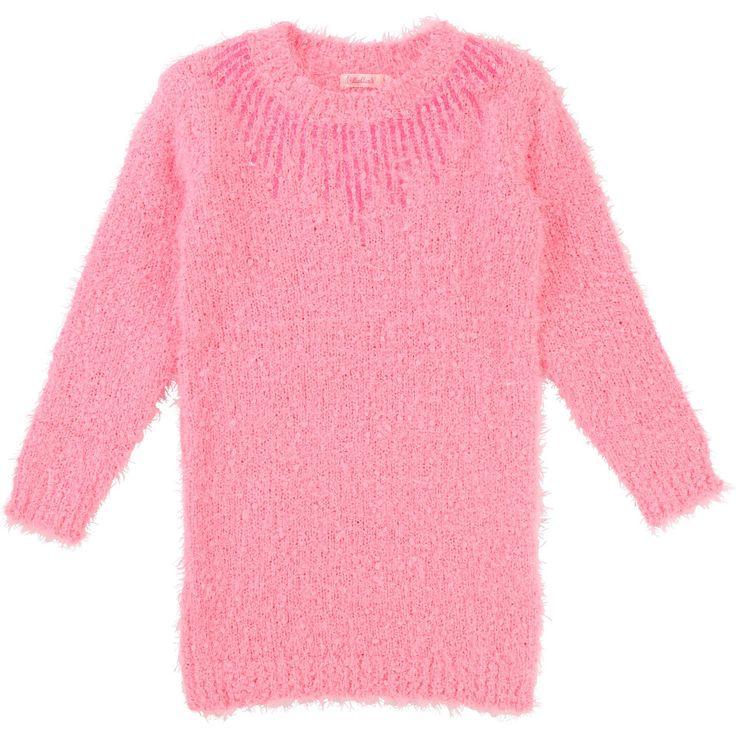 BILLIEBLUSH Robe tricot chenille à sequins girl pink - BilliesMarket