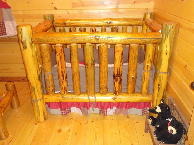 Rustic Pine Log Crib. I absolutely love this!