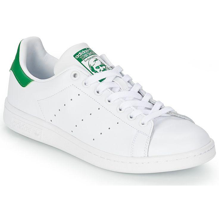 Baskets Homme Spartoo, promo Baskets basses adidas Originals STAN SMITH Blanc / Vert prix promo Spartoo 84.99 € TTC