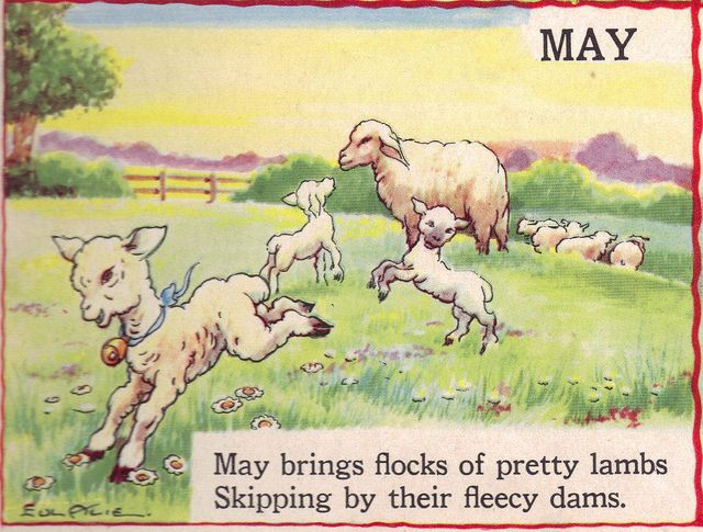 "MAY - The Bumper Book; ""A bumper crop of good stories and poems to grow on"" Illustrated by Eulalie Edited by Watty Piper 1946"