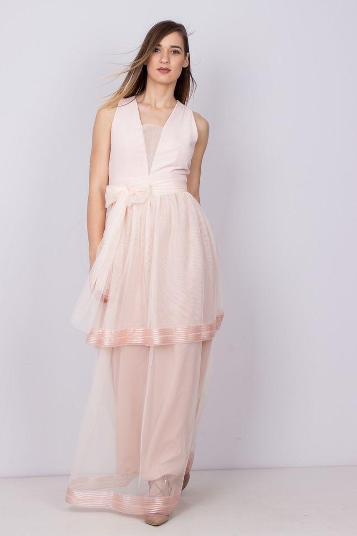 Maxi Dress With Tulle - Dresses | trendyfashion.gr http://mikk.ro/tz8