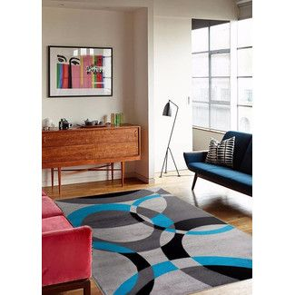 Persian Rugs Tobis Abstract Turquoise Area Rug Youll Love