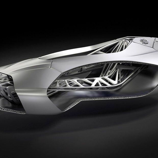 3D printed car inspired by turtle skeleton