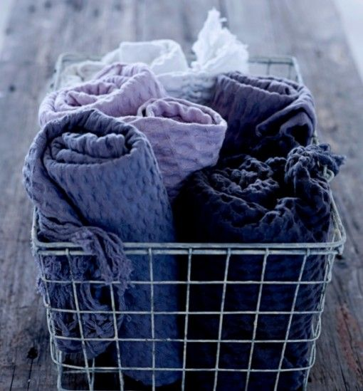 For winter! Basket of blankets by the fireplace!