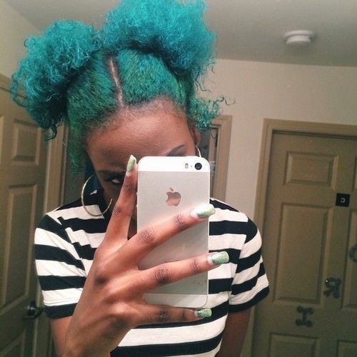 "naturalhair: ""Dimani Damaris IG- astoldbymani Colored natural hair… I love it! """