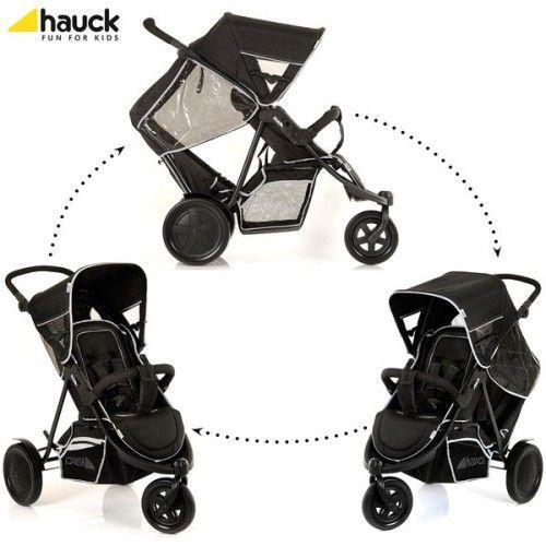 Hauck    ✔ Hauck Freerider Tandem Pram + Second Seat black - Collection 2014, (3 Dec 2014), lowest price + free shipping on Prams.net.