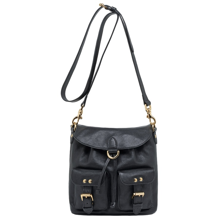 Mulberry - Double Pocket Drawstring in Black Soft Spongy