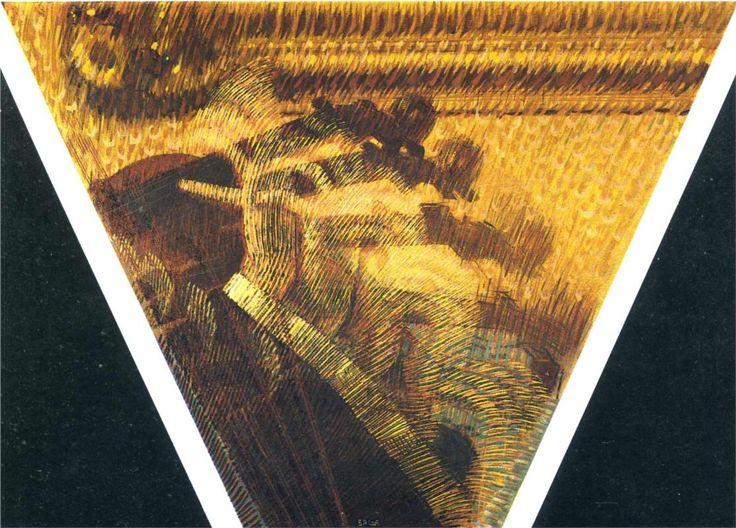 Giacomo Balla -The Hand of A Violinist, 1912, Futurism