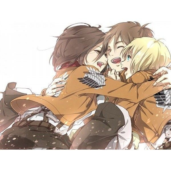 Pin by B S on Eren x Mikasa x Armin | Pinterest ❤ liked on Polyvore featuring anime, snk and attack on titan