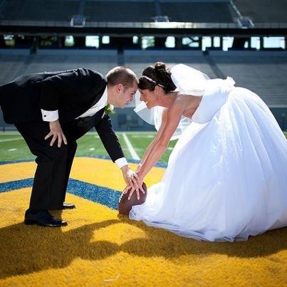25 best weddings football fun images on pinterest football the bride versus the groom on the football field junglespirit Choice Image