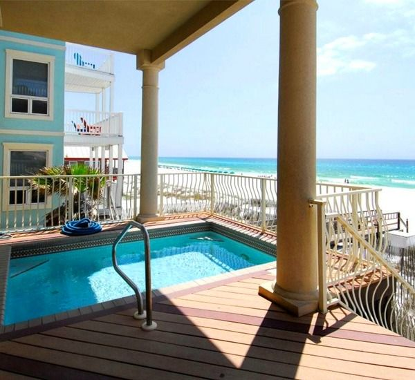 Destin Gulf Front Beach House Rentals Destin Pinterest