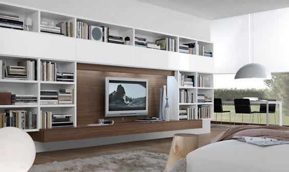 Modern Living Room, Entertainment Center: